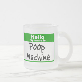 poop1 frosted glass coffee mug