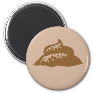 Poop 2 Inch Round Magnet