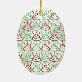Poop Ceramic Ornament
