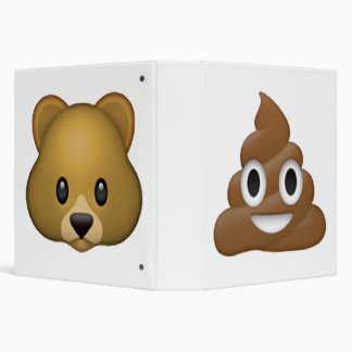 Poop - Emoji 3 Ring Binder
