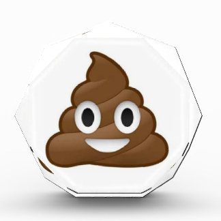 poop emoji acrylic award