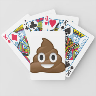 poop emoji bicycle playing cards