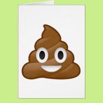 Poop emoji card