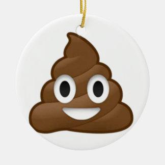 poop emoji ceramic ornament