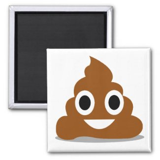 Poop Emoji Emoticon Funny Fridge Magnet