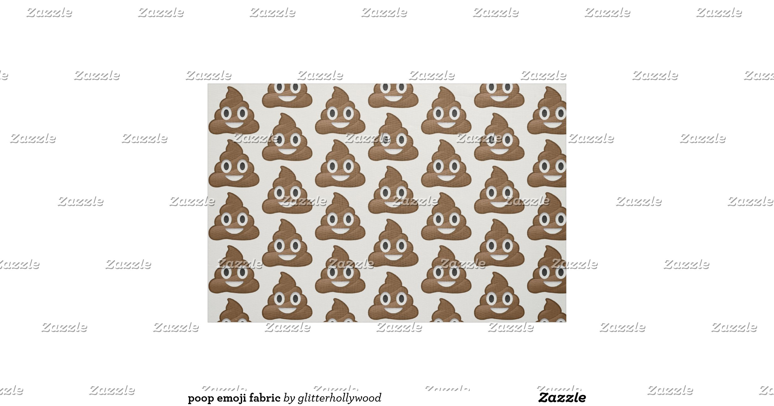 Poop emoji fabric r96e7342b798748e4bf43650b1faf9140 zl6qr for Emoji material by the yard