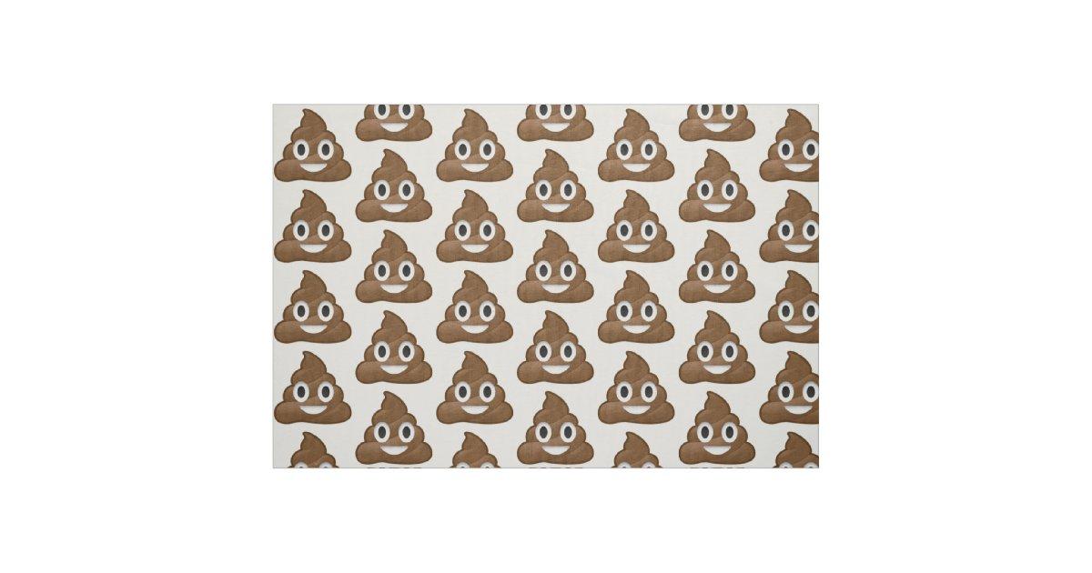 Poop emoji fabric zazzle for Emoji fabric