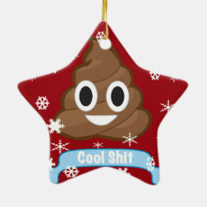 Poop Emoji Funny Christmas Ornaments at Zazzle