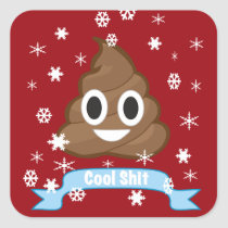 Poop Emoji Funny Christmas sticker