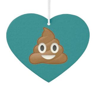 Poop emoji heart air freshener