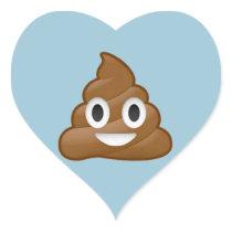 Poop emoji heart sticker