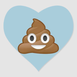 Poop emoji heart sticker