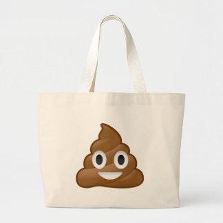Poop emoji jumbo tote bag