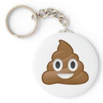 Poop emoji keychain