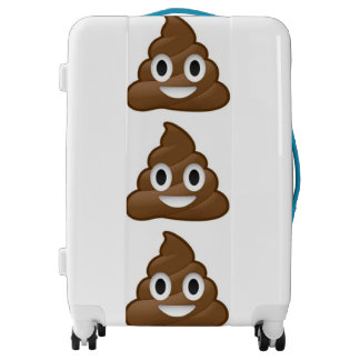 poop emoji luggage