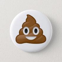 Poop emoji pinback button