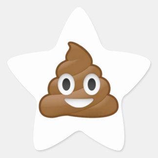 Poop emoji star sticker