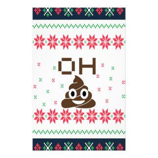 Poop emoji stationery