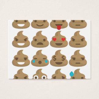 poop emojis business card