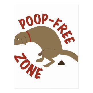 Poop-Free Zone Postcard