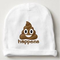 Poop Happens Emoji Baby Beanie
