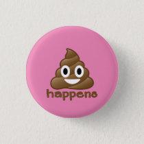Poop Happens Emoji Button