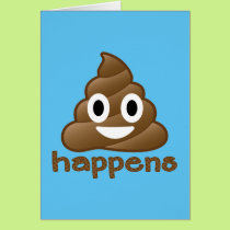 Poop Happens Emoji Card