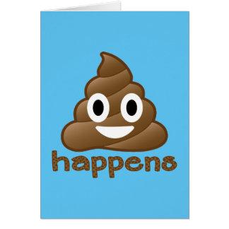 Poop Happens Emoji Card