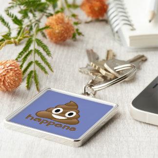 Poop Happens Emoji Keychain