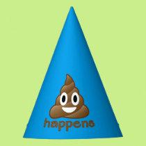 Poop Happens Emoji Party Hat
