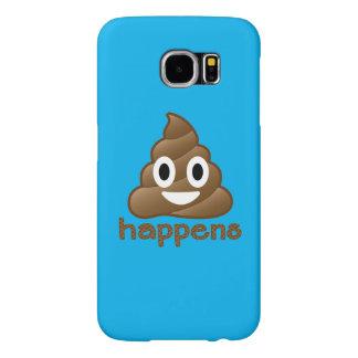 Poop Happens Emoji Samsung Galaxy S6 Case