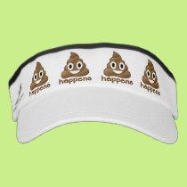 Poop Happens Emoji Visor