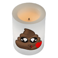 Poop Heart Love Emoji Flameless Candle