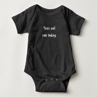 Poop loading baby one piece baby bodysuit