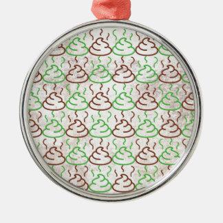 Poop Metal Ornament
