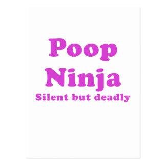 Poop Ninja Silent but Deadly Postcard