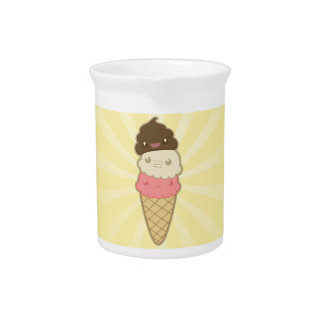 Poop on Ice Cream Beverage Pitcher