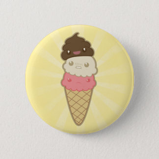 Poop on Ice Cream Pinback Button