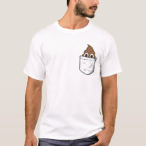 Poop Pocket. Funny emoji T-shirt