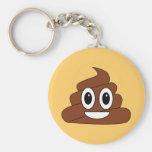 Poop Smiley Basic Round Button Keychain