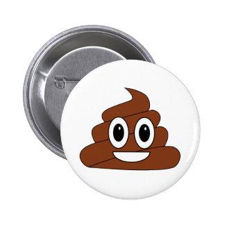 Poop Smiley Button