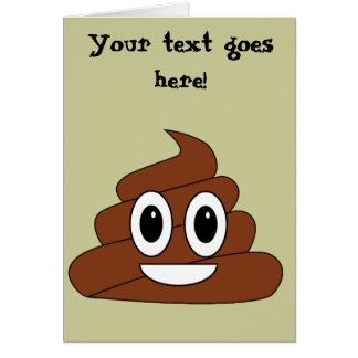 Poop Smiley Greeting Cards