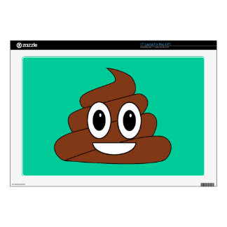 """Poop Smiley Decal For 17"""" Laptop"""