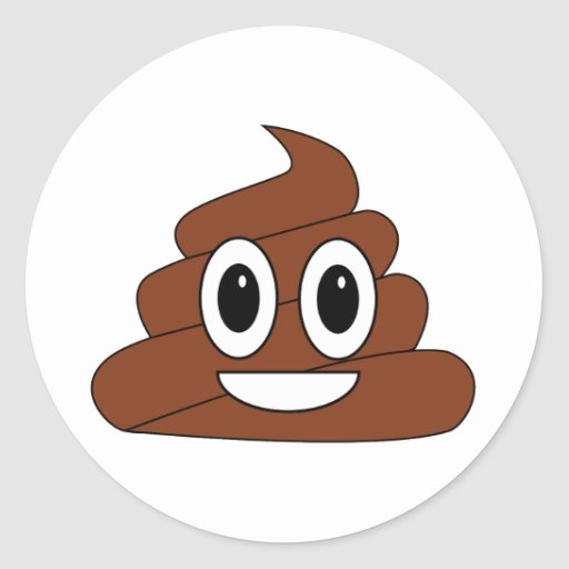 Poop Smiley Stickers