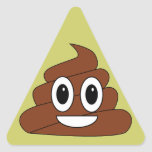 Poop smiley triangle sticker