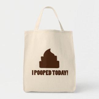 Pooped hoy bolsa tela para la compra