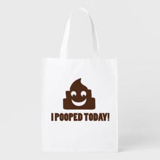 Pooped hoy el poopie feliz bolsa de la compra