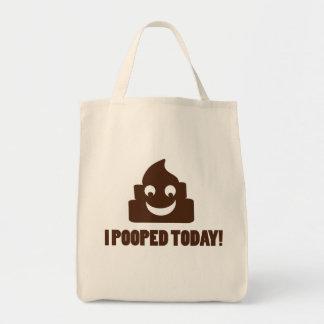 Pooped hoy el poopie feliz bolsa tela para la compra