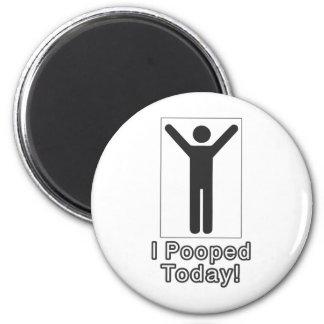 Pooped hoy imán redondo 5 cm