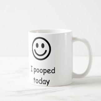 Pooped hoy taza de café
